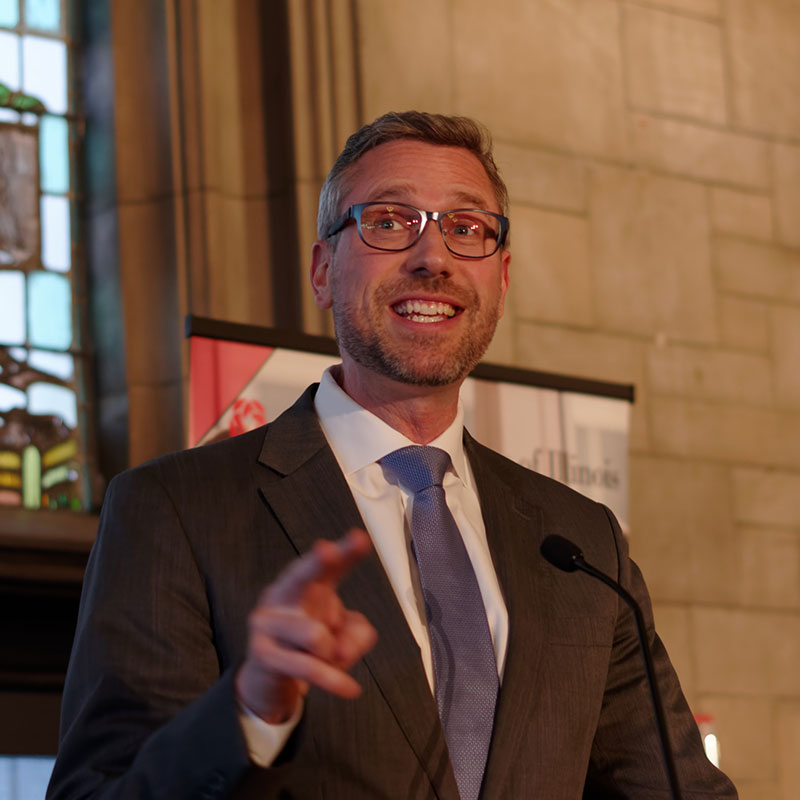 Illinois Treasurer Michael W. Frerichs was the featured speaker at the 2019 Benefit Reception.