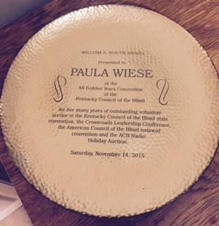 Paula's award