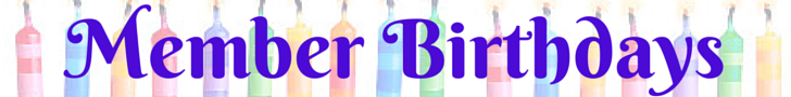 member birthdays banner