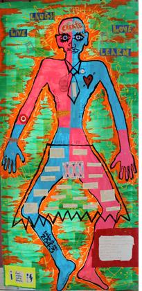 Robbie's body map artwork