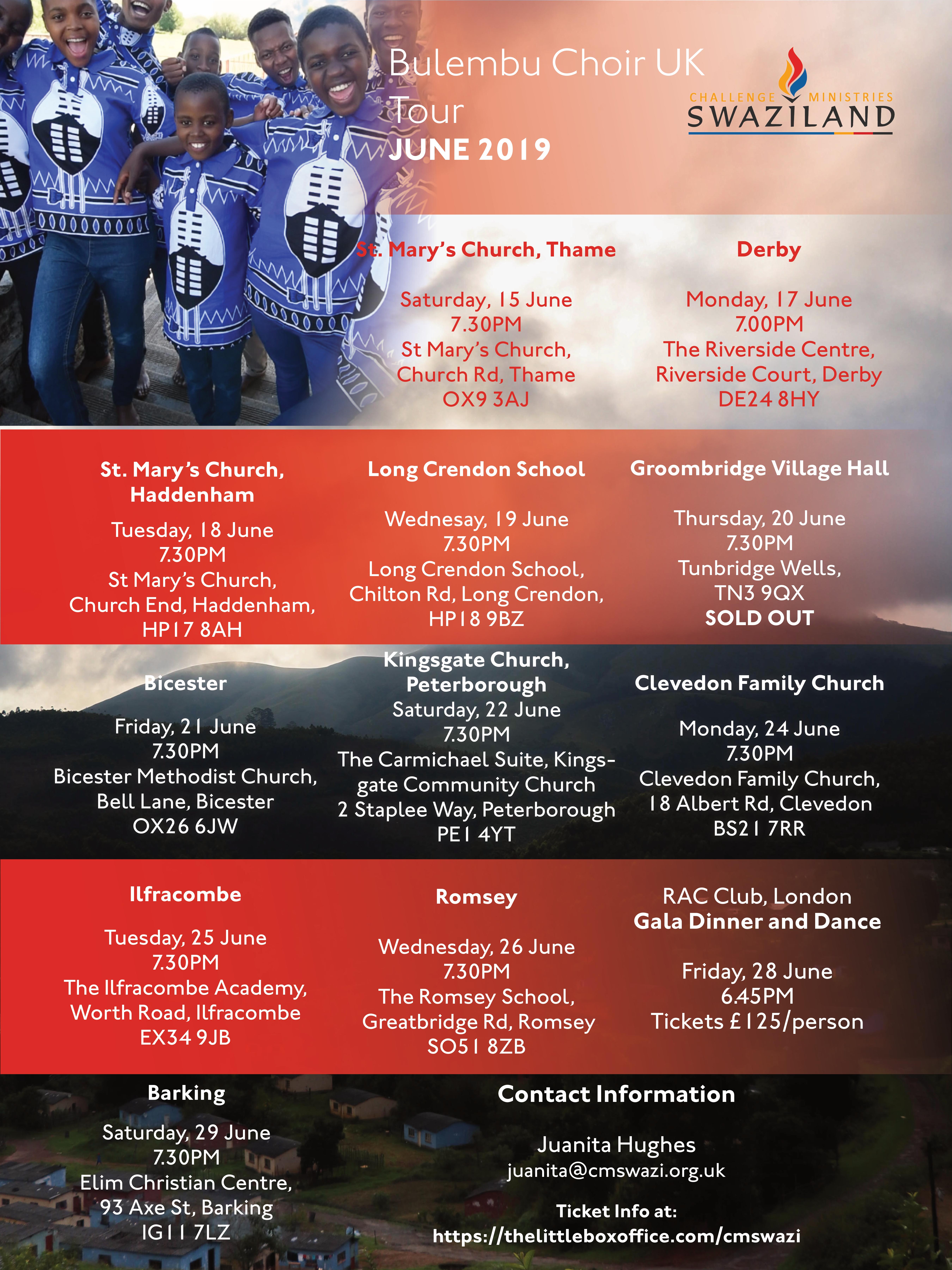 The Choir Tour 2019