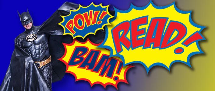 Batman promotes Summer Reading