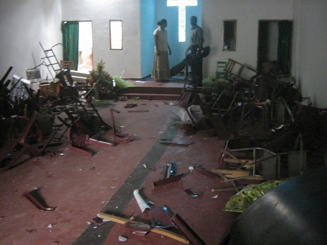 Sri Lanka church attacked in July 2008