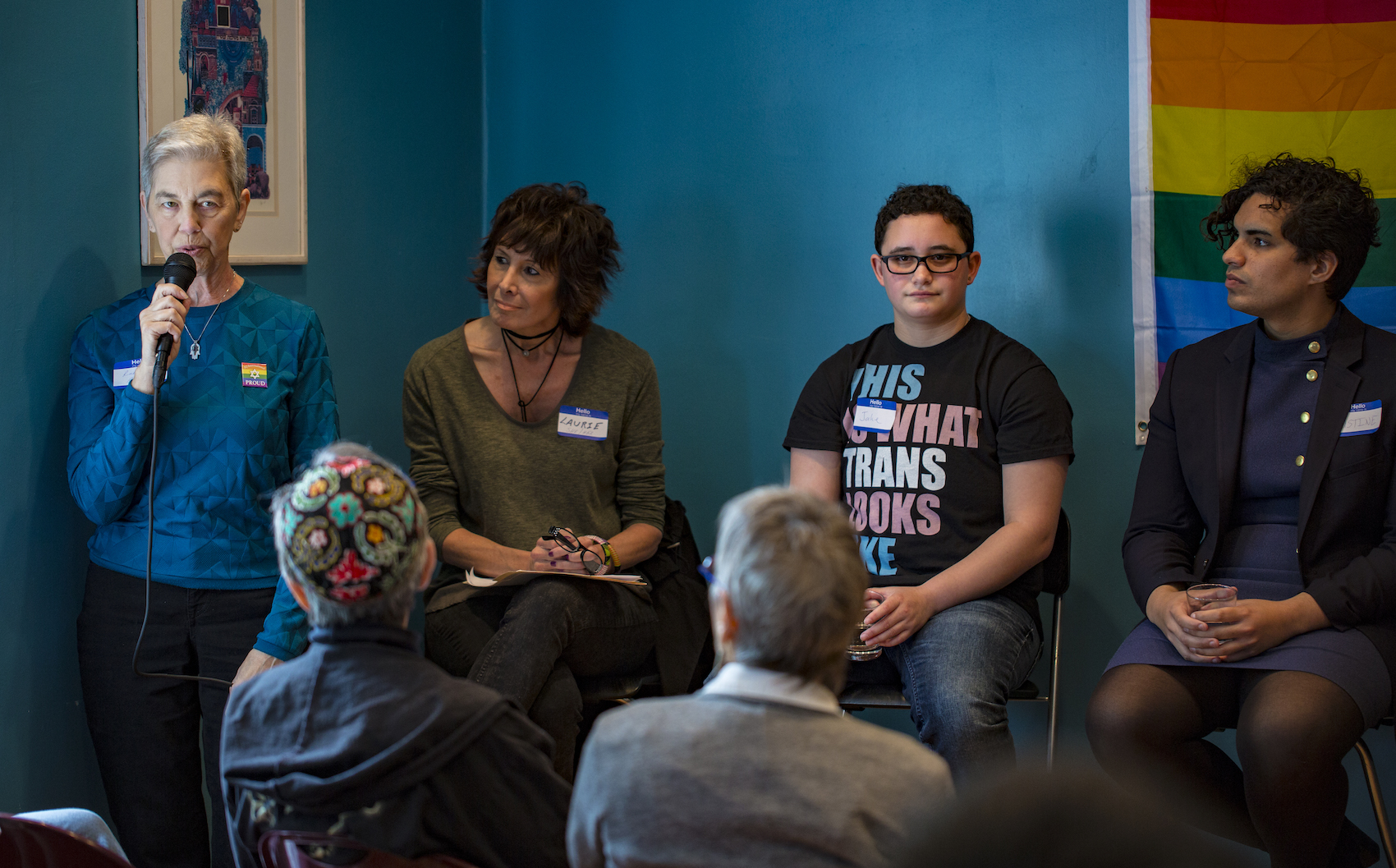 Jake (3rd from left) on the panel of the JQ's 2016 Trans Equality Brunch