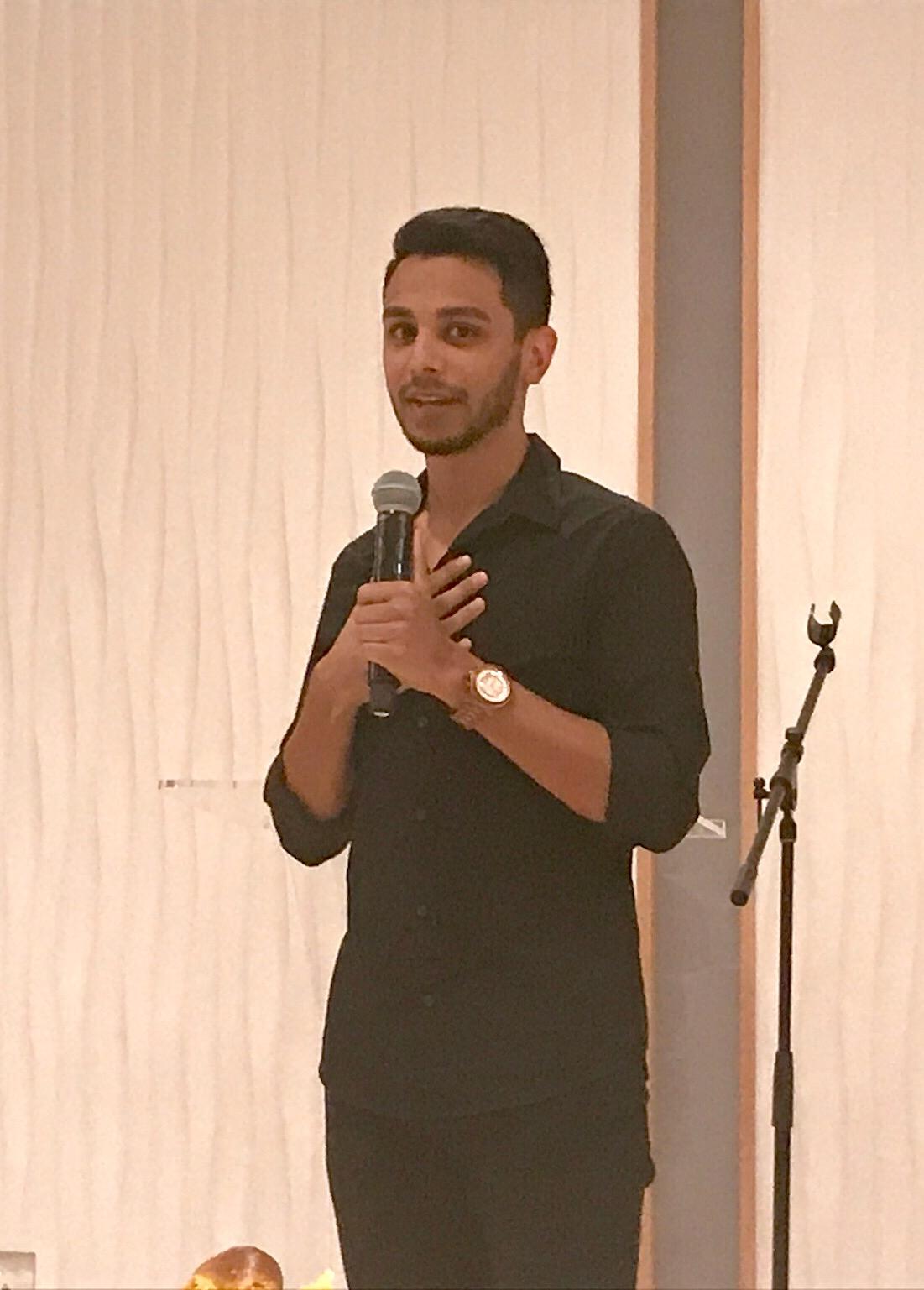 Hisham tells his story at JQ's Iftar Shabbat