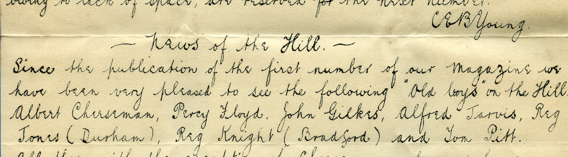 Founders Writing 1914