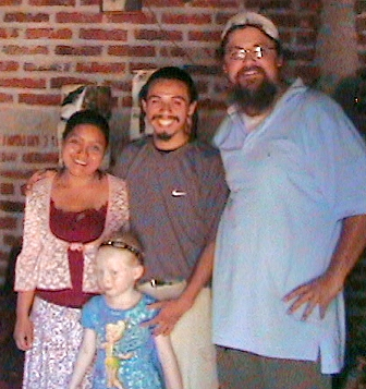 Rav Aaron with El Salvador family