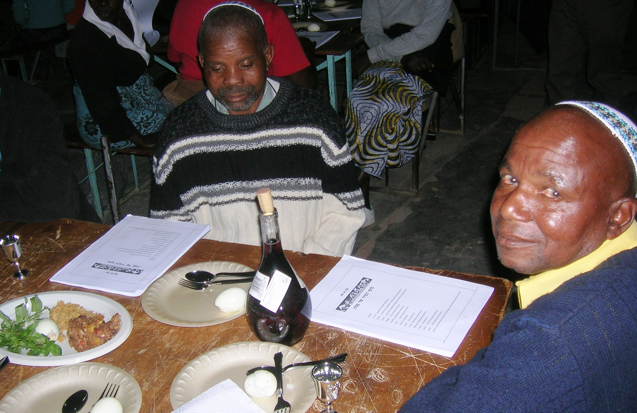 Passover Seder in Mapakomhere, Zimbabwe. Photo by Sandy Leeder, 2012.