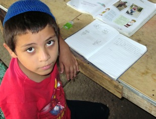 Young Student in Armenia, El Salvador. Photo by Rabbi Aaron Rehberg