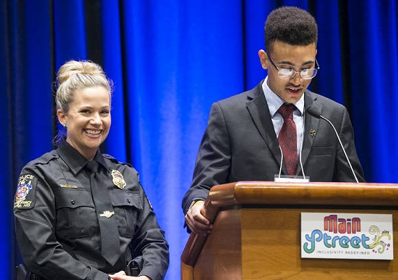 Officer Laurie Reyes and Jake Edwards