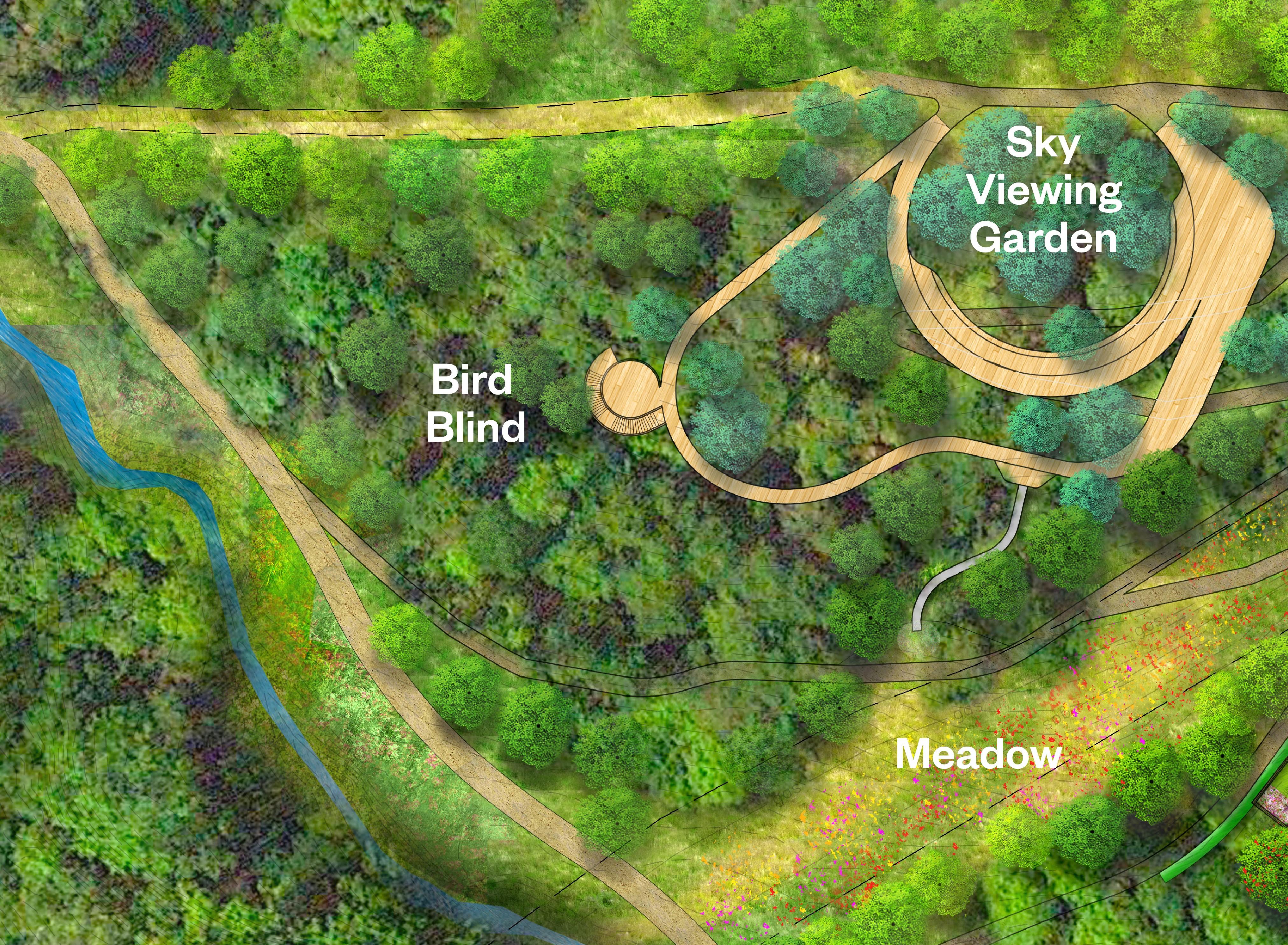 Bird Blind Schematic Image