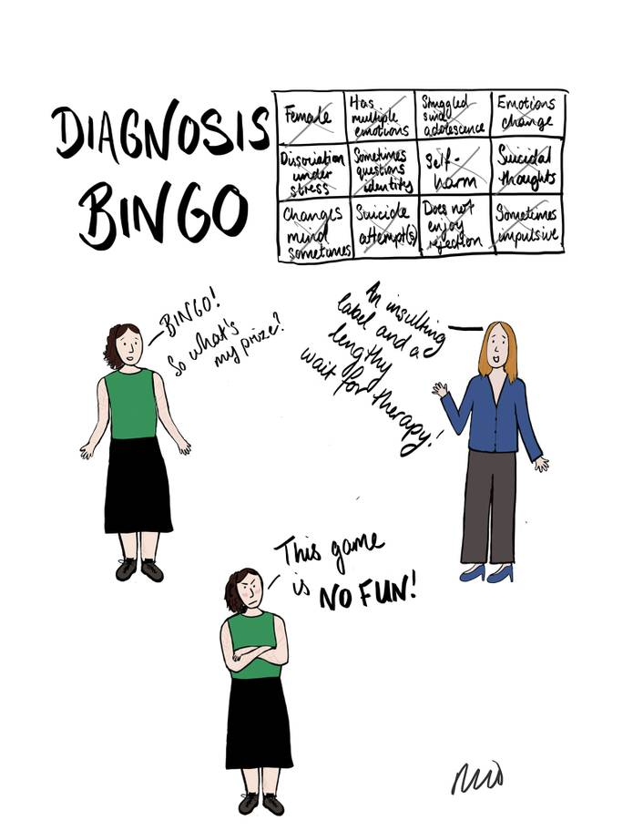 diagnosis bingo by Rachel Rowan Olive