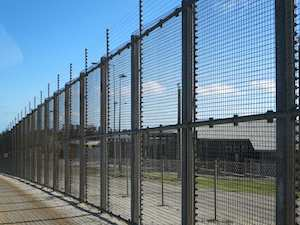 Christmas Island Immigration Detention Centre fence