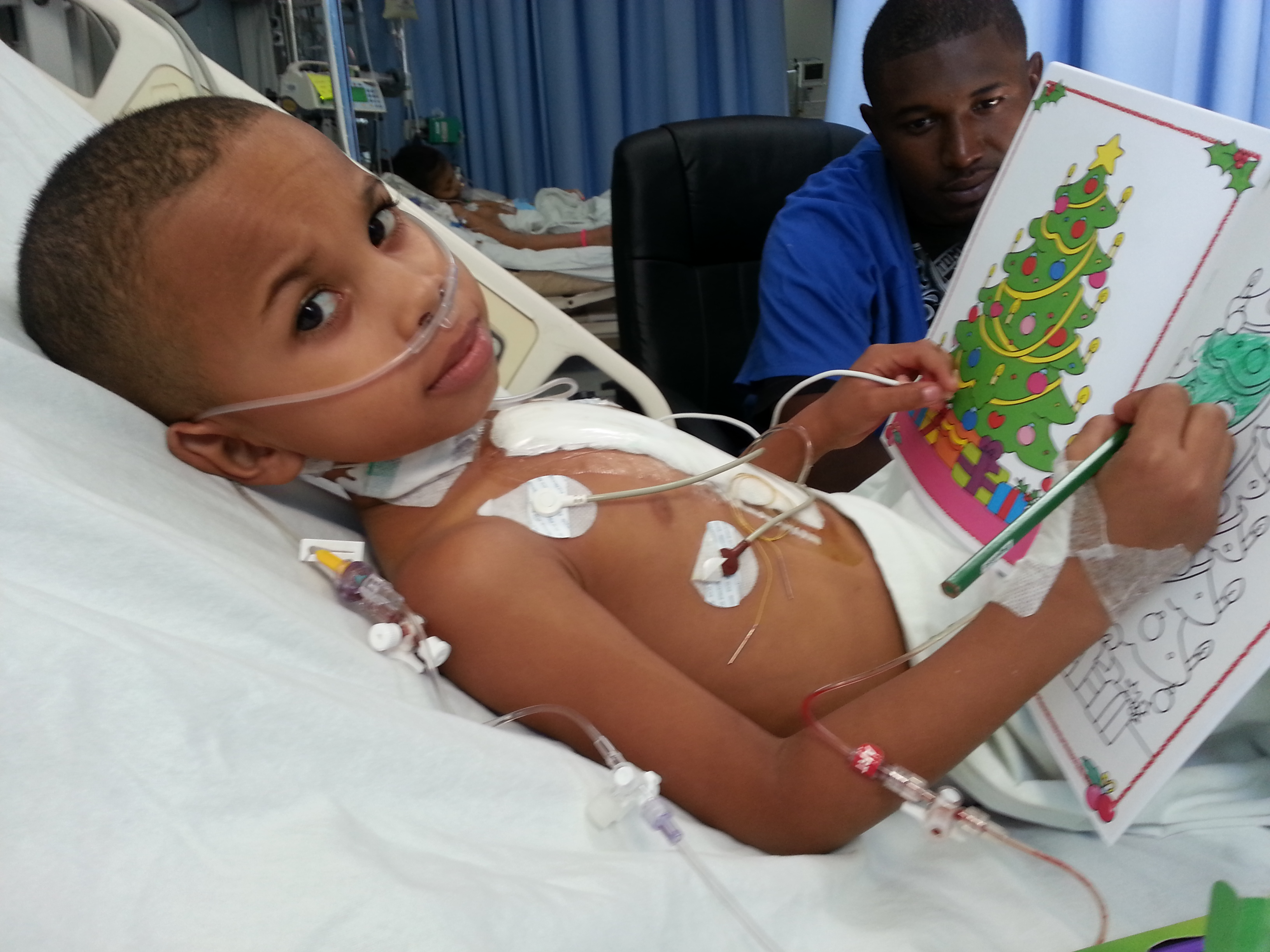Hazell, a child who received open-heart surgery from Surgeons of Hope