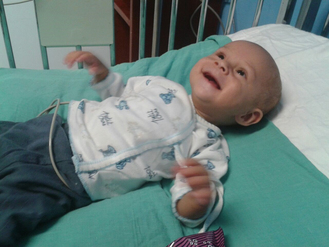Yvonne, a child who received open-heart surgery