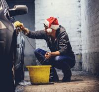 Santa car wash