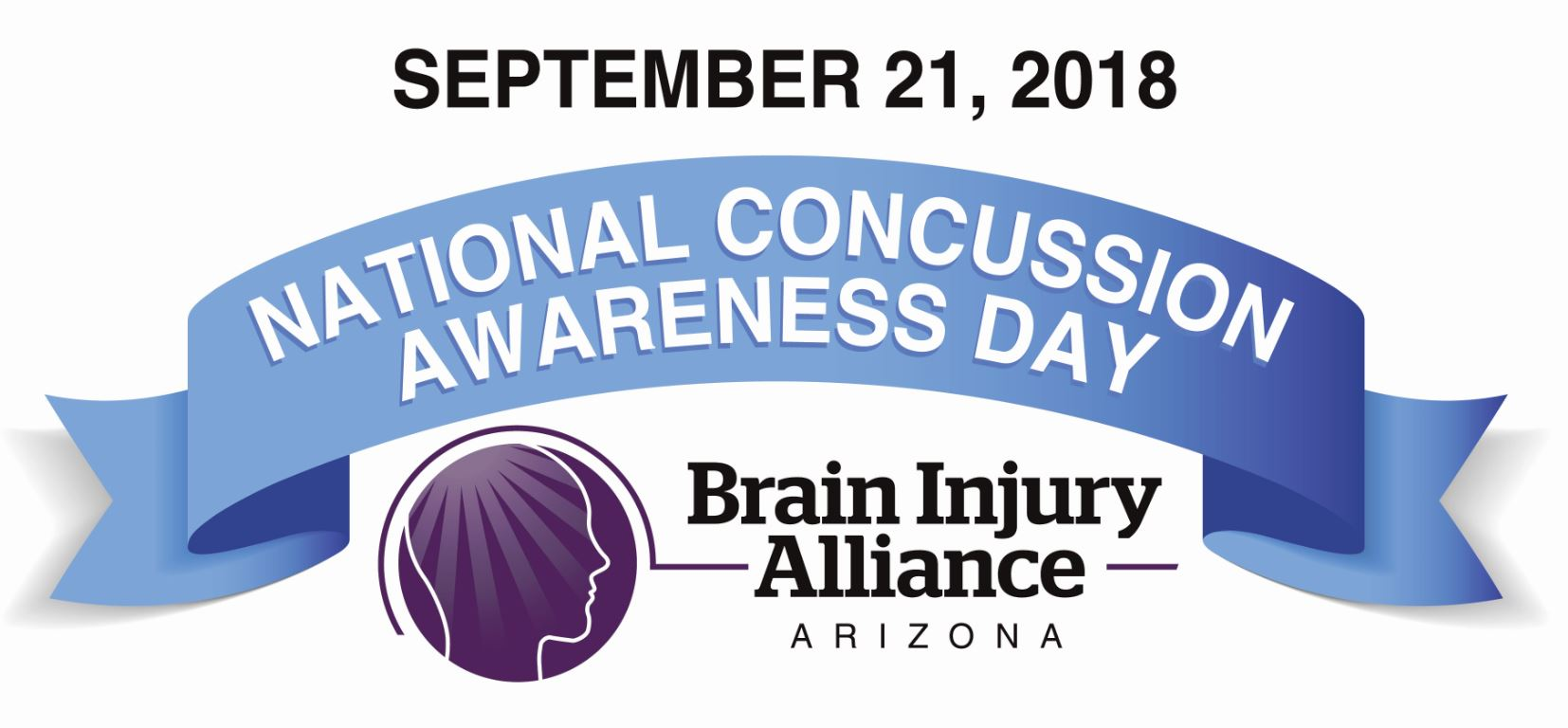 September 21, 2018 National Concussion Awareness Day, Brain Injury Alliance Arizona
