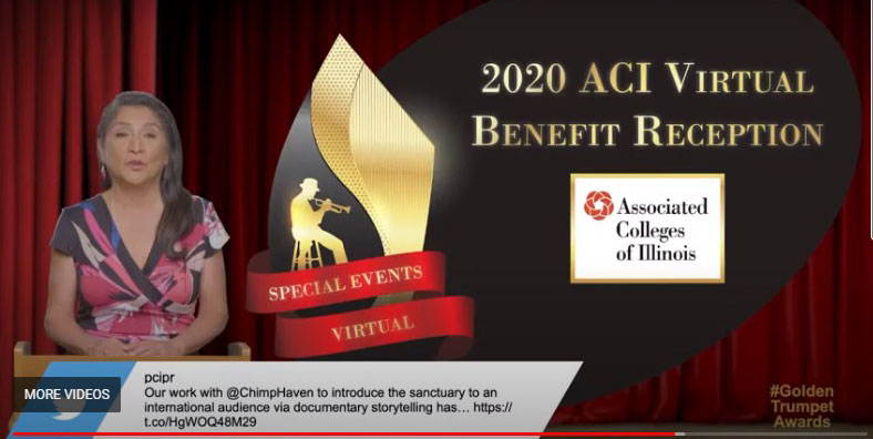 The PCC Golden Trumpet Award was awarded to ACI's 2020 Virtual Benefit Reception.