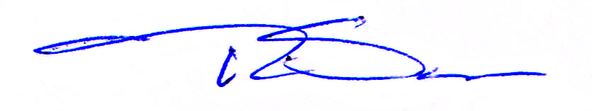 Tim Sayler's signature