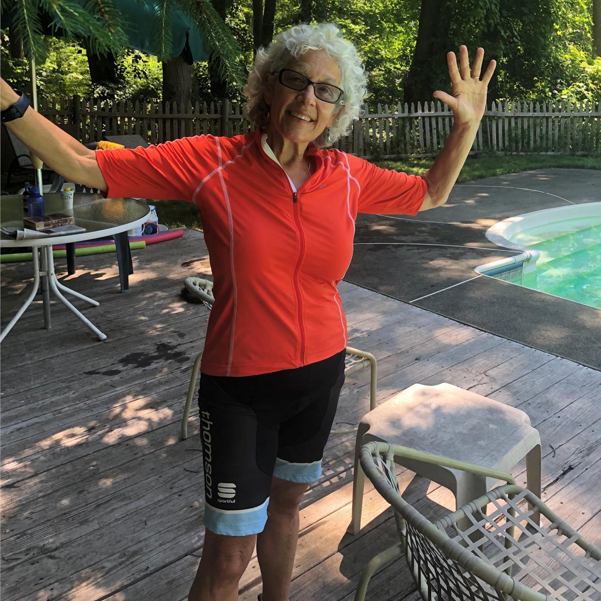 Tour de Shore rider Linda